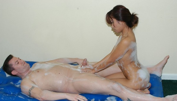 Sexy massage naked handjob
